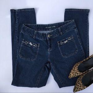 Size 10 Michael Kors Logo Emblem Straightleg Jeans
